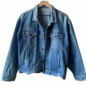 The perfect oversize vintage jean jacket